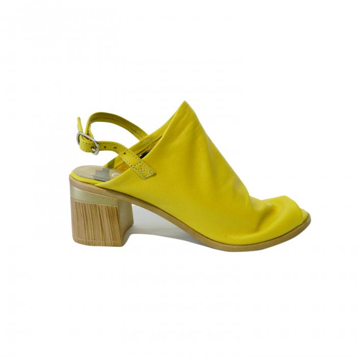 Sandale dama din piele naturala, Patricia, Gitanos, Galben, 39 EU 0