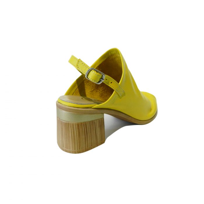 Sandale dama din piele naturala, Patricia, Gitanos, Galben, 39 EU 1