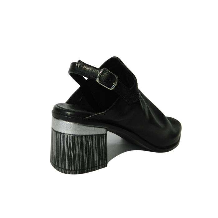 Sandale dama din piele naturala, Patricia, Gitanos, Negru, 36 EU 2