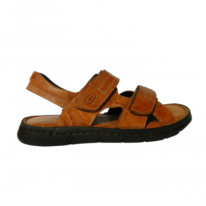 Sandale pentru barbati din piele naturala, Falcon, Gitanos, Maro, 43 EU 0
