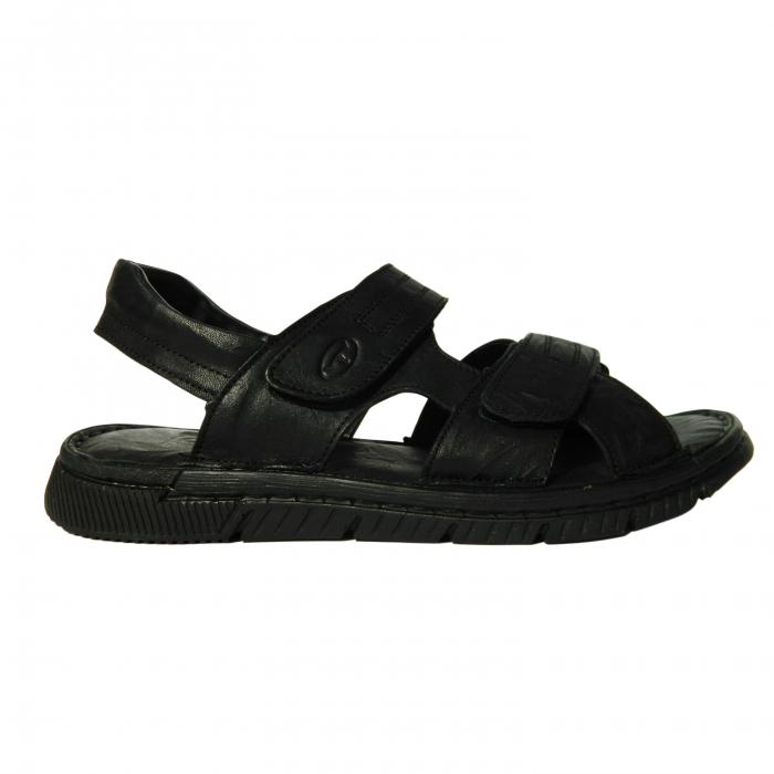 Sandale pentru barbati din piele naturala, Falcon, Gitanos, Negru, 41 EU 0