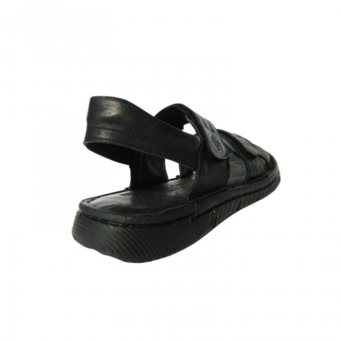 Sandale pentru barbati din piele naturala, Falcon, Gitanos, Negru, 41 EU 1