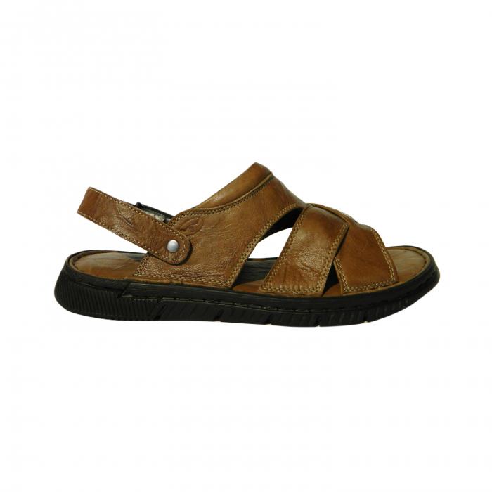 Sandale pentru barbati din piele naturala, Jules, Gitanos, Maro, 42 EU 0
