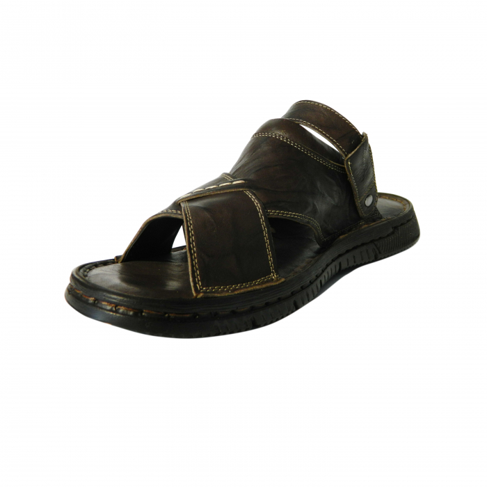 Sandale pentru barbati din piele naturala, Jules, Gitanos, Maro inchis, 43 EU 2