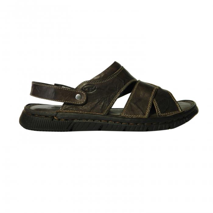 Sandale pentru barbati din piele naturala, Jules, Gitanos, Maro inchis, 43 EU 0