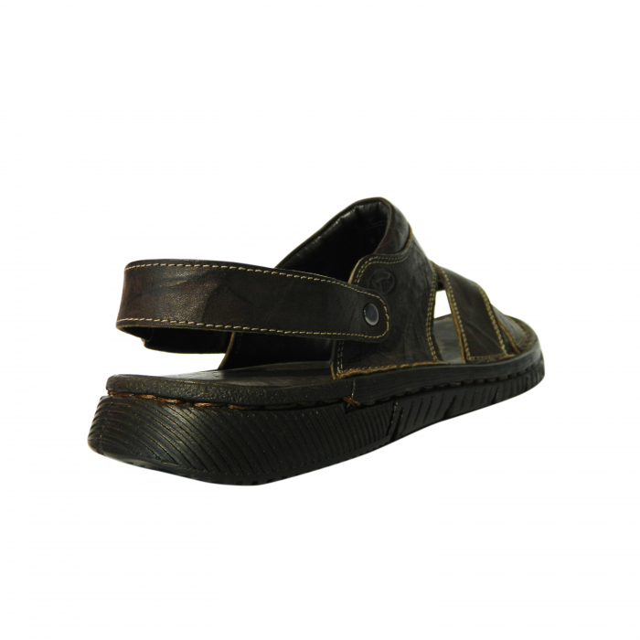 Sandale pentru barbati din piele naturala, Jules, Gitanos, Maro inchis, 43 EU 1