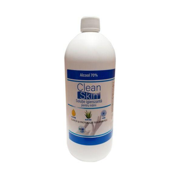 Solutie igienizanta pentru maini, Clean Skin, alcool 70%, Pasteur, 1 l 0