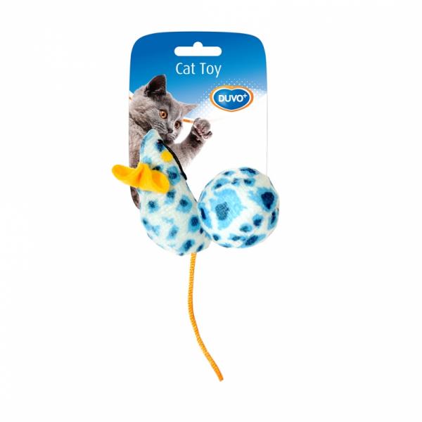Soricel de jucarie cu bila pentru pisici din material textil, Duvo+ [0]