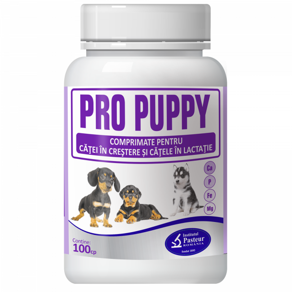 Supliment nutritiv pentru caini Pasteur Pro-Puppy, 100 tablete 0