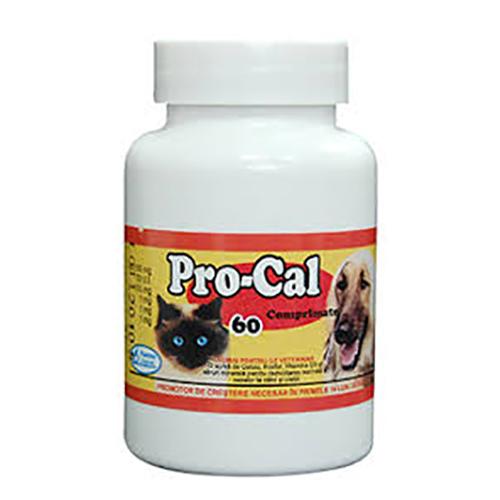 Supliment nutritiv pentru caini si pisici Pasteur Pro-Cal, 60 tablete 0