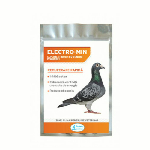 Supliment nutritiv pentru porumbei Electro-Min, Pasteur, 20 g [0]