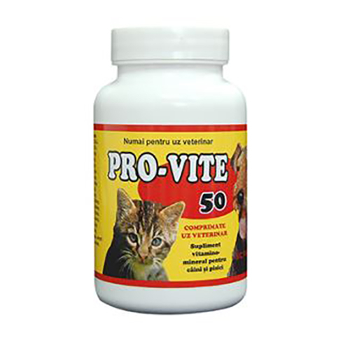 Supliment nutritiv pentru caini si pisici Pasteur Pro-Vite, 50 tablete 0