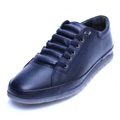 Pantofi barbati din piele naturala, Snk, Goretti, Albastru, 40 EU [0]
