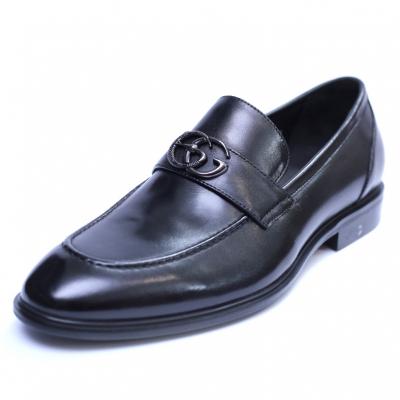 Pantofi barbati din piele naturala, Dolce vita, SACCIO, Negru, 39 EU [0]