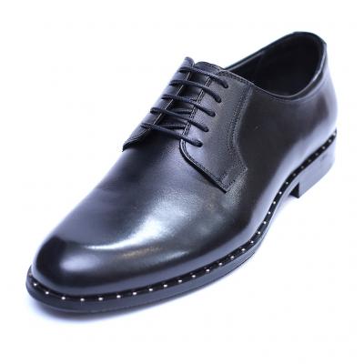 Pantofi barbati din piele naturala, Van, SACCIO, Negru, 39 EU [0]