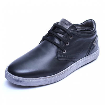 Pantofi barbati din piele naturala, Jim, Gitanos, Negru, 39 EU [0]