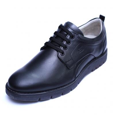 Pantofi barbati din piele naturala, Sir, Gitanos, Negru, 39 EU0