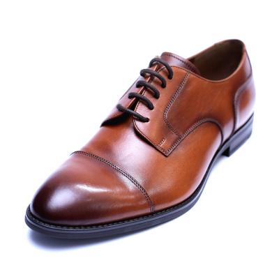 Pantofi barbati din piele naturala, Marlon, ANNA CORI, Maro, 40 EU0