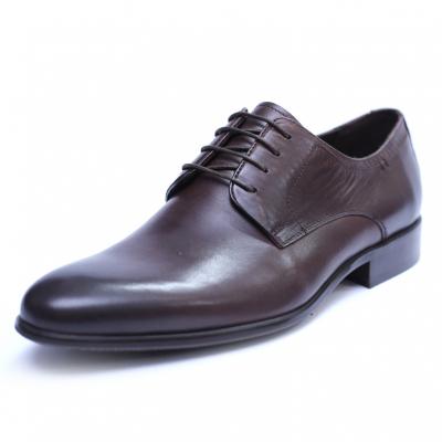 Pantofi barbati din piele naturala, Leo, SACCIO, Maro, 39 EU0