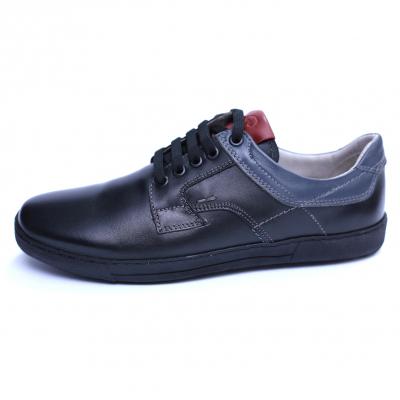 Pantofi barbati din piele naturala, Brad, Gitanos, Negru, 39 EU1