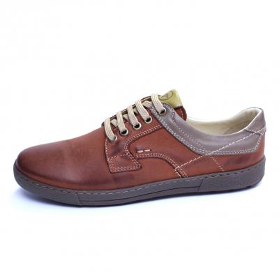 Pantofi barbati din piele naturala, Brad, Gitanos, Maro, 39 EU3