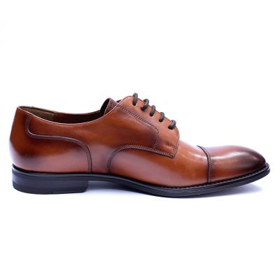 Pantofi barbati din piele naturala, Marlon, ANNA CORI, Maro, 40 EU5