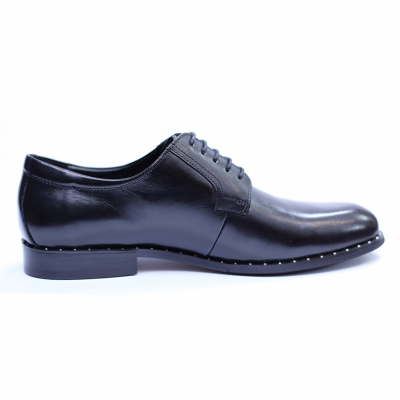 Pantofi barbati din piele naturala, Van, SACCIO, Negru, 39 EU [2]