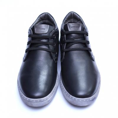 Pantofi barbati din piele naturala, Jim, Gitanos, Negru, 39 EU [2]