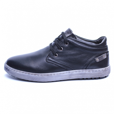 Pantofi barbati din piele naturala, Jim, Gitanos, Negru, 39 EU [3]