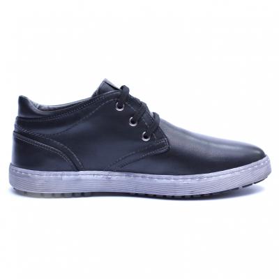 Pantofi barbati din piele naturala, Jim, Gitanos, Negru, 39 EU [4]