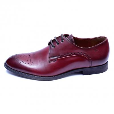 Pantofi eleganti pentru barbati din piele naturala, Soni, ANNA CORI, Bordeaux, 40 EU [2]
