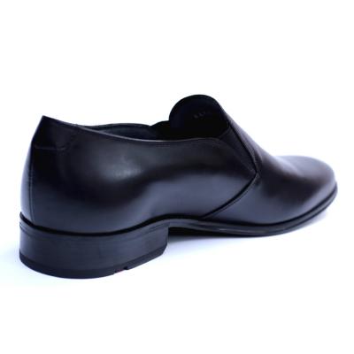 Pantofi barbati din piele naturala cu banda elastica, Elan, RIVA MANCINA, Negru, 40 EU2