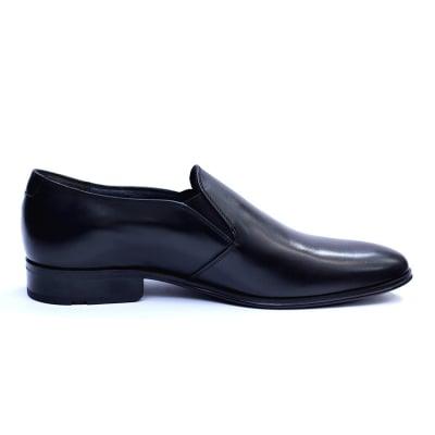 Pantofi barbati din piele naturala cu banda elastica, Elan, RIVA MANCINA, Negru, 40 EU3