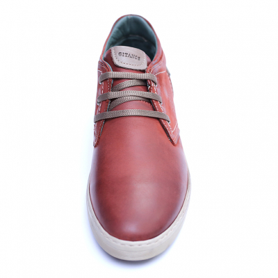 Pantofi barbati din piele naturala, Jim, Gitanos, Visiniu, 39 EU1
