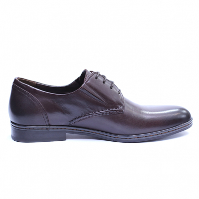 Pantofi barbati din piele naturala, Knight, SACCIO, Maro, 39 EU [4]