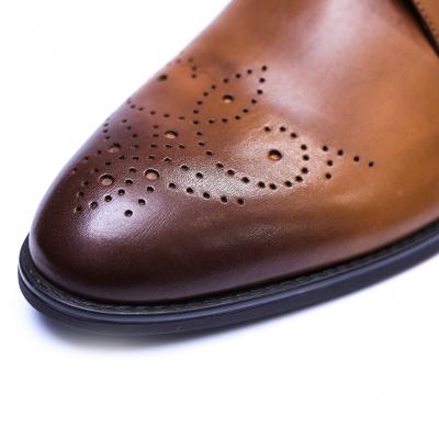 Pantofi eleganti pentru barbati din piele naturala, Soni, ANNA CORI, Maro, 39 EU [4]