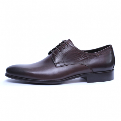 Pantofi barbati din piele naturala, Leo, SACCIO, Maro, 39 EU [3]