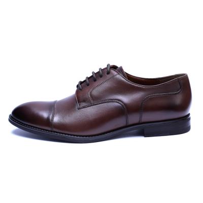 Pantofi barbati din piele naturala, Marlon, ANNA CORI, Maro inchis, 39 EU [3]