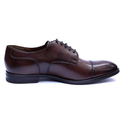 Pantofi barbati din piele naturala, Marlon, ANNA CORI, Maro inchis, 39 EU [5]