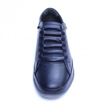 Pantofi barbati din piele naturala, Snk, Goretti, Albastru, 40 EU [1]