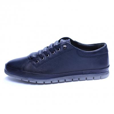 Pantofi barbati din piele naturala, Snk, Goretti, Albastru, 40 EU [3]