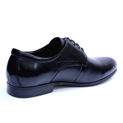 Pantofi barbati din piele naturala, Lee, SACCIO, Negru, 39 EU [4]