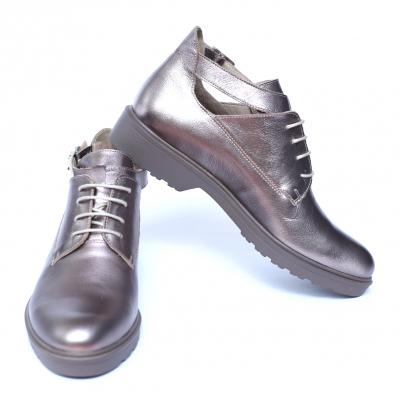 Pantofi dama din piele naturala, AML, Peter, Argintiu, 41 EU [1]