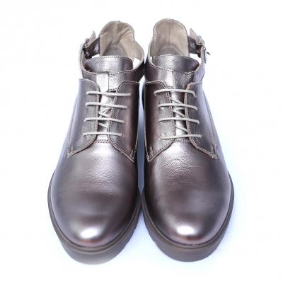 Pantofi dama din piele naturala, AML, Peter, Argintiu, 41 EU [2]