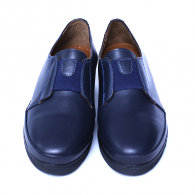 Pantofi dama din piele naturala, Sina, Anna Viotti, Albastru, 38 EU [2]