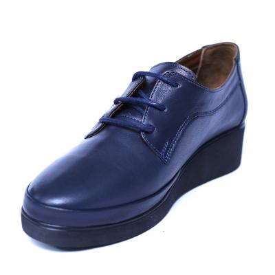 Pantofi dama din piele naturala, Jaqueline, Anna Viotti, Albastru, 40 EU [0]