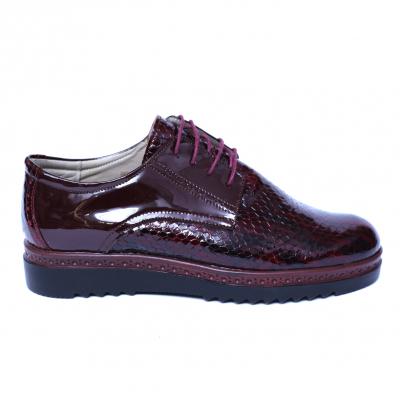 Pantofi dama din piele naturala, Cameleon, Alexin, Bordeaux, 38 EU3