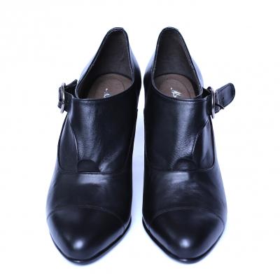 Pantofi dama din piele naturala, Meunier, Nist, Negru, 36 EU1