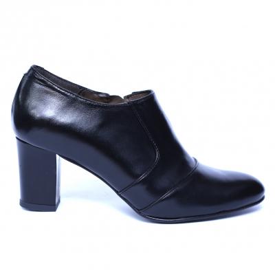 Pantofi dama din piele naturala, Venus, Nist, Negru, 38 EU [1]