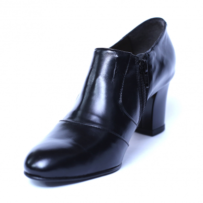 Pantofi dama din piele naturala, Venus, Nist, Negru, 38 EU [0]